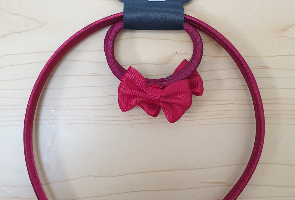 Bow Alice Hairband + 2 elastics - Maroon