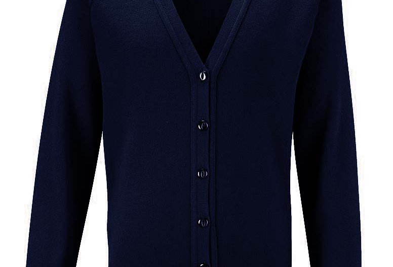 Navy Knitted Cardigan (Greasby Juniors)