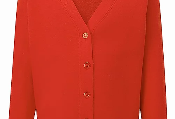 Red Sweat Cardigan (Leasowe Primary)