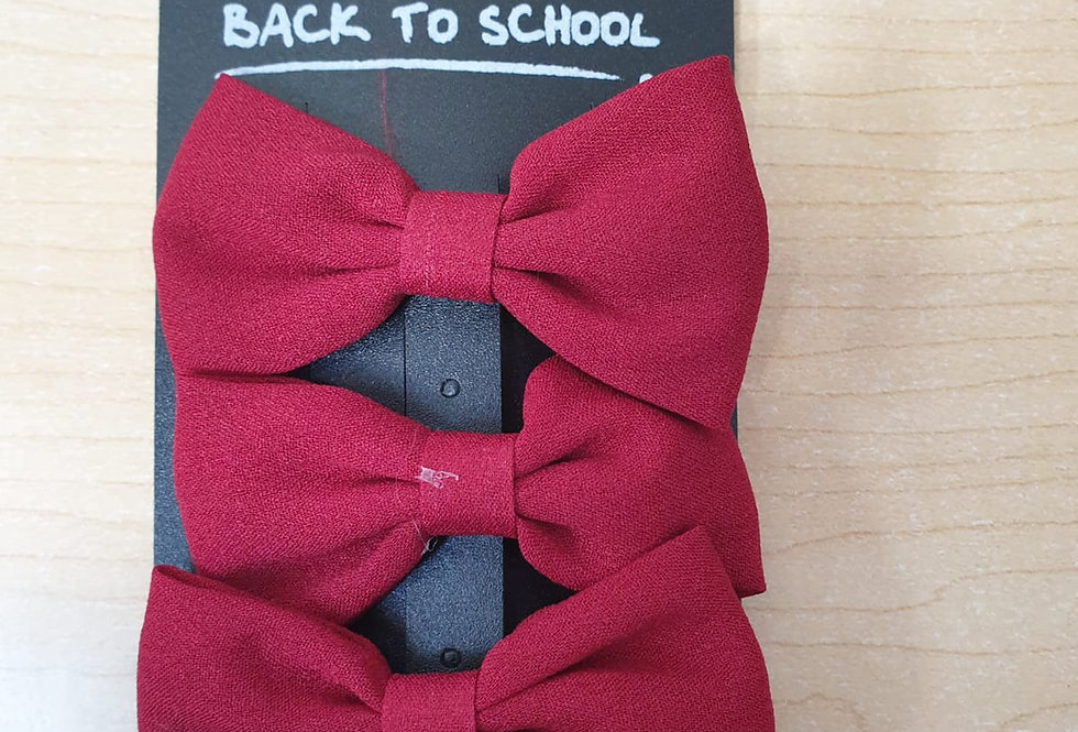 3 pack of bows - Maroon