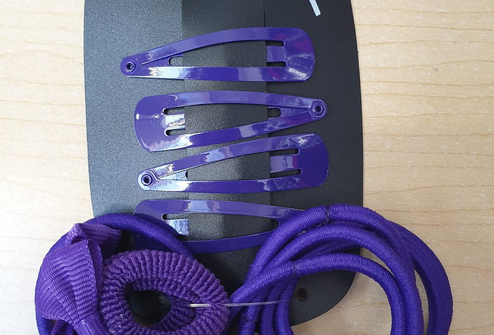 Bows Clips & Bobbles - Purple