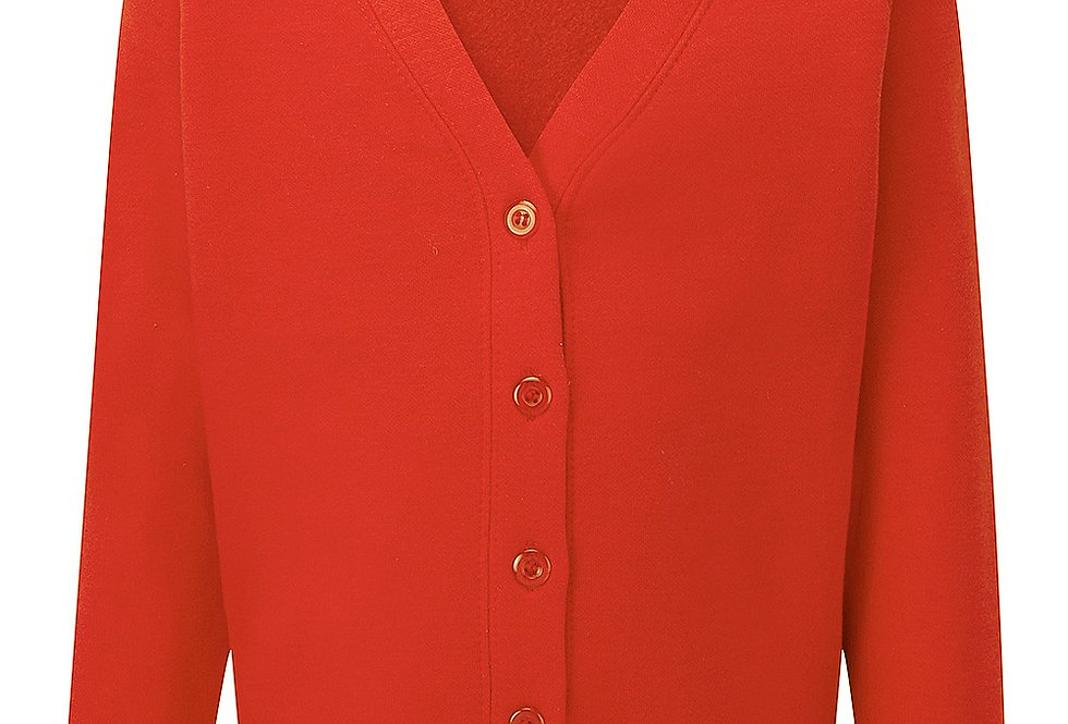 Red Sweat Cardigan (Little Robins)