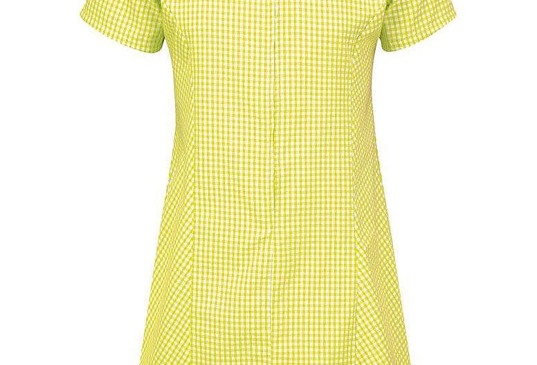 Yellow & White Gingham Summer Dress