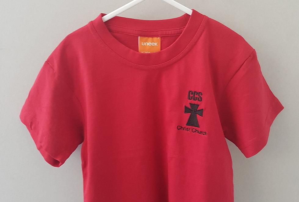 Red PE T-Shirt (Christ Church Moreton)