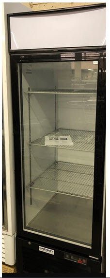 Glass door upright display refrigerator