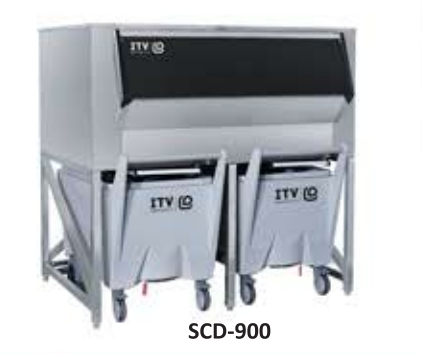 SCD 900 - ICE STORAGE BIN WITH CARTS