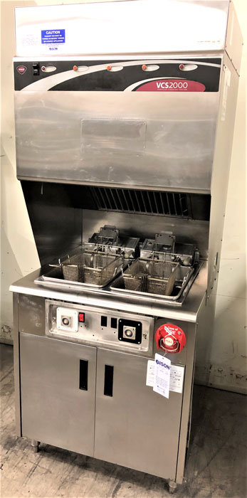Wells ventless  hood with 2 deep fryers