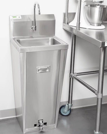 Hands Free Hand Sink with Pedestal Base