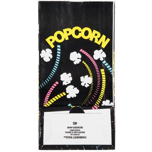 "Bagcraft Papercon 300448 4 1/4"" x 2 1/2"" x 8 1/4"" 46 oz. Funburst Design Popcorn"