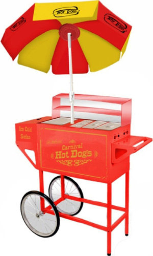 Commercial-Hot-Dog-Cart-Stand-Grill-Cooker-Drink-Cooler-Bun-Warmer-w-Umbrella