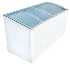 CURVED GLASS TOP DISPLAY FREEZER CURVED LID - 14.8 Cu.ft