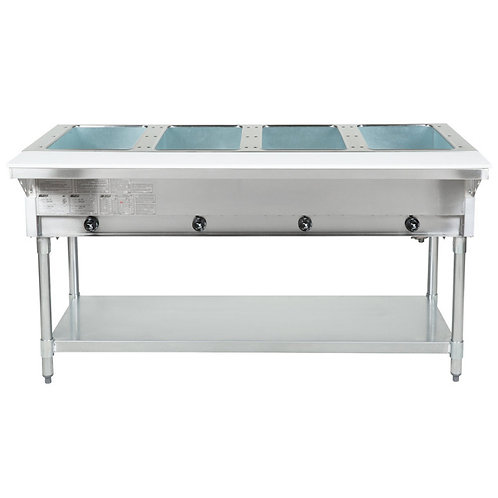 Open Well Four Pan Electric Hot Food Table