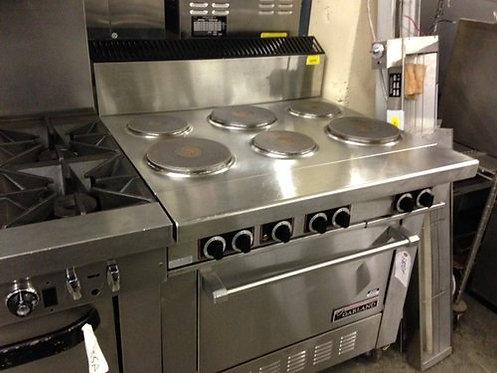 Garland 6 burner range with oven