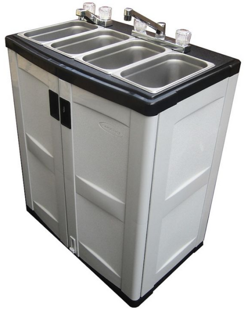 Brand New Portable Self Contained Three Compartment Sink