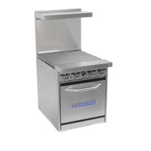 "Bakers Pride Gas Range with Standard 20"" Oven and 24"" Griddle"