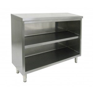 """15"""" x 72"""" Stainless Steel Dish Cabinet"""