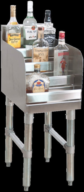 4 STEP LIQUOR DISPLAY STANDS - 8 SIZES AVAILABLE