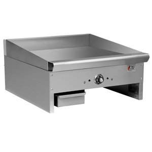 "24"" COUNTERTOP GRIDDLE WITH THERMOSTATIC CONTROLS - 44,000 BTU"