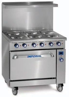 6 burner Imperial Electric Range with oven