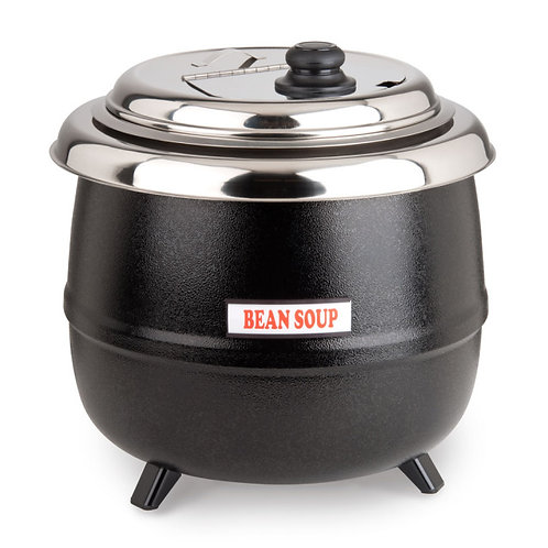 14 Qt. Soup Kettle Warmer Black - 110V, 600W