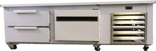 """Chef Base Equipment Stand Refrigerator 72"""" 2 Drawers & 1 door - STAINLESS STEEL"""