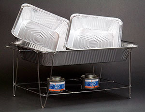 DISPOSABLE CHAFER / CHROME WIRE CHAFER STAND KIT