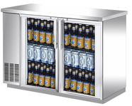 GLASS DOOR BACK BAR - STAINLESS STEEL - 3 SIZES TO CHOOSE FROM