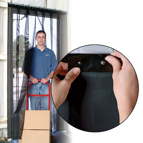 """Air Flex Mesh Strip Door / Insect Barrier and Bug Curtain - 48"""" x 84"""""""