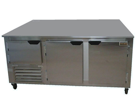 "72"" UNDERCOUNTER WORK TOP -REFRIGERATOR - 1 12/ DOORS"