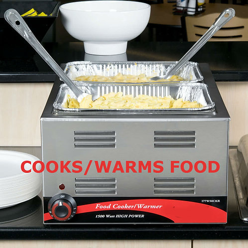Cooks and holds your products at foodsafe temperatures     Durable stainles