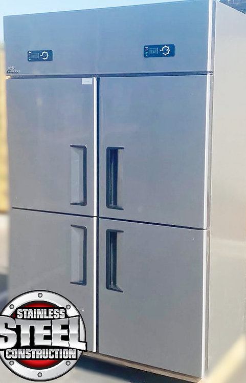 1/2  fridge - 1/2 freezer -