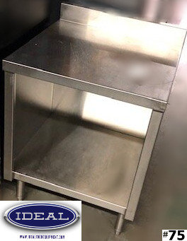 """24"""" WORK TABLE CABINET WITH BACK SPLASH"""