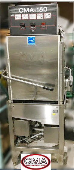 CMA 180 pass thru corner dishwasher - high temp - ventless
