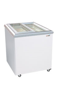 Ice Cream Flat Top Flat Lid Display Freezer - 5.6 Cu.ft