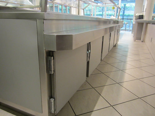 Double sided salad bar refrigerated 9' long