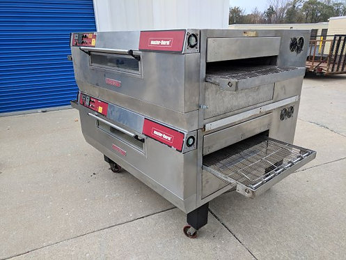 BLODGETT DOUBLE DECK CONVEYOR GAS PIZZA OVENS