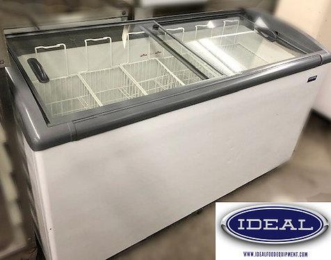 Ice cream - frozen foods slide top freezer merchandizer
