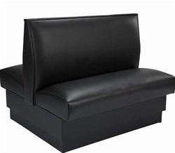 """STANDARD DOUBLE  BOOTH SEATING -  46 WIDE X 36"""" HIGH  VINYL - 6 COLORS"""