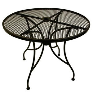 "30"" ROUND MESH TOP OUTDOOR TABLE WITH UMBRELLA HOLE"