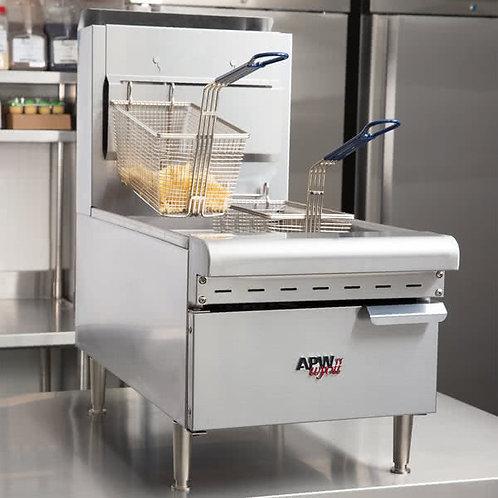 Liquid Propane/natural gas  25 lb. Countertop Fryer - 60,000 BTU