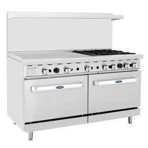 "CookRite 60"" (4) Burner Gas Range w/ Oven"