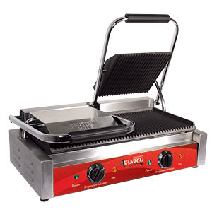 COMMERCIAL DOUBLE PANINI GRILL - 120 VOLT