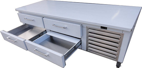 """72"""" CHEF BASE WITH 4 DRAWERS - STAINLESS STEEL"""