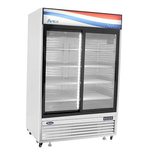 2 sliding door upright display refrigerator