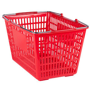 PLASTIC HAND SHOPPING BASKETS - 5 COLORS TO CHOOSE FORM