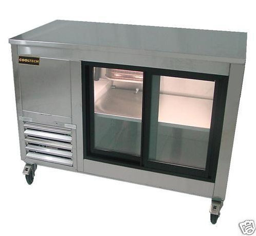 Stainless Steel Back Bar Display Cooler 72""