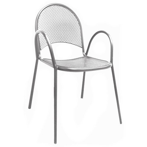 GRAY MESH BACK AND SEAT OUTDOOR CHAIR
