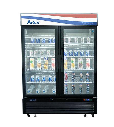 Swing door upright display refrigerator