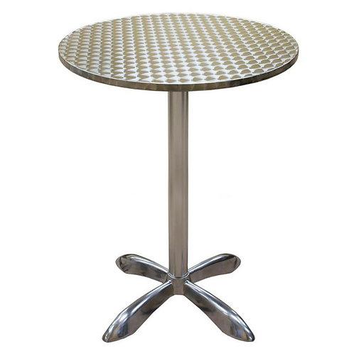 "27 1/2"" ROUND OUTDOOR ALUMINUM TABLE - BAR HEIGHT"