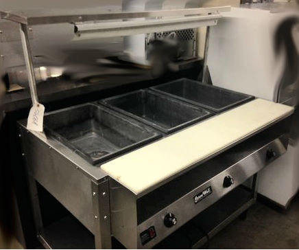 VOLLRATH HOT FOOD TABLE  3 WELL